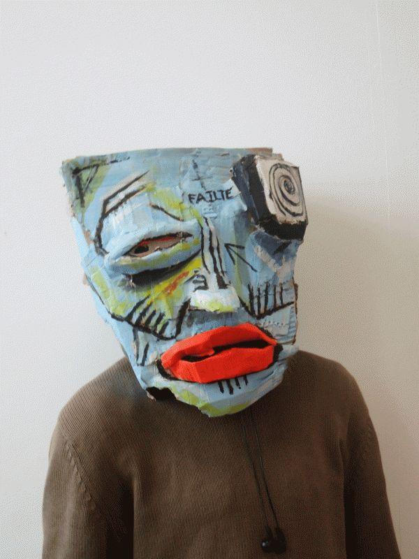 Cardboard Head Sculptures by David Whelan, via Behance