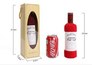 5 unids/lote toalla torta de la forma de Vino con alto grado de embalaje caja de regalo de bodas regalo de bussiness