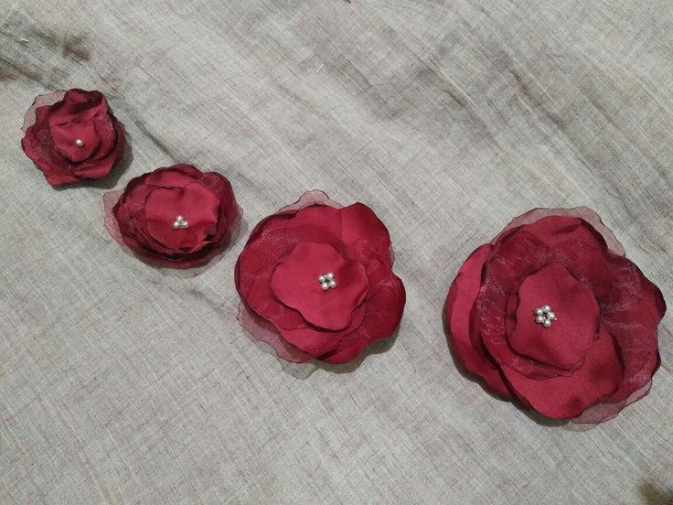 Silk and organza roses