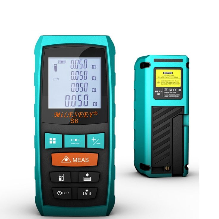 Mileseey S6 40M 60M 80M 100M Laser Rangefinder Laser Distance Meter Blue Roust housing LCD Protection #shoes, #jewelry, #women, #men, #hats, #watches, #belts