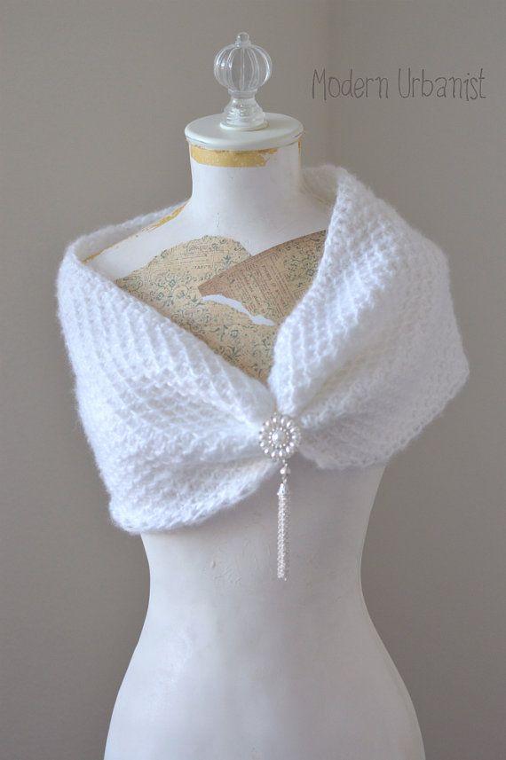 Tunisian Crochet Wedding Wrap Pattern Bridal by ModernUrbanist, $4.50