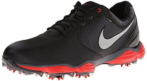 Mens Golf Shoes Idea   NIKE Golf Mens NIKE Lunar Control2 SL Golf Shoe BlackLight CrimsonReflect Silver 10 DM US -- Learn more by visiting the image link. Note:It is Affiliate Link to Amazon.