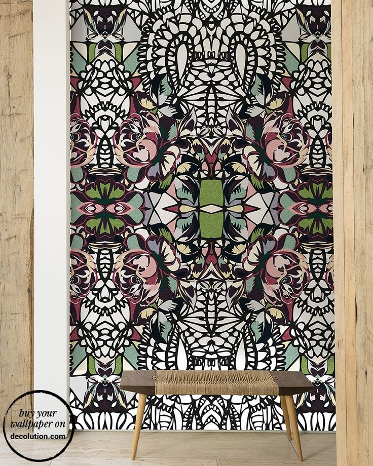 Flace - There is a Pop Tribal effect for Flace, wallpaper with a mix of tattoos and street art references.Colours, black and white come together in this paper from the original design, created for young and eclectic spaces. www.decolution.com #wallpaper #cartadaparati #cartedaparati #papelpintado #papierpeint #tapete #wallcovering #designityourself #DIY #wallpapershop #wallpaperonline #wallcovering #interiordesign #homedecoration #home