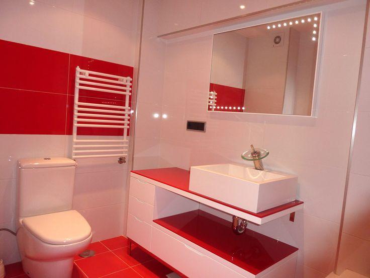 Decoración e Ideas para mi hogar: 10 lindos baños en color rojo
