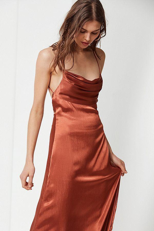 Uo Cowl Neck Silk Maxi Dress Short Lace Dress Silk Cowl Neck Dress Cowl Neck Dress Formal