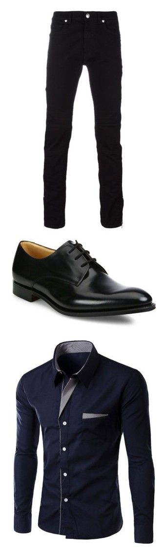 """""""Men Outfit"""" by dzenaan7 ❤ liked on Polyvore featuring men's fashion, men's clothing, men's jeans, pants, men, bottoms, male clothes, mens pants, black and mens jeans"""