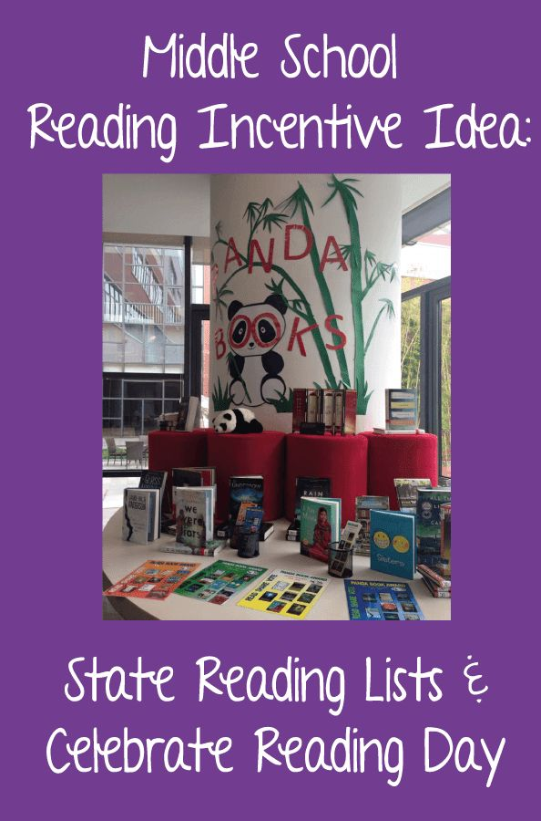 Mrs. ReaderPants: Middle School Reading Incentive Idea: State Reading Lists and Celebrate Reading Day