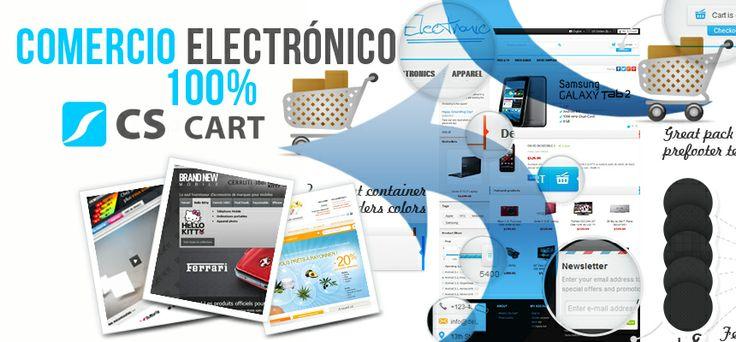 CS-Cart es la mejor solución para crear un sitio web de comercio electrónico de cualquier tamaño: desde una pequeña tienda virtual hasta un centro comercial virtual.