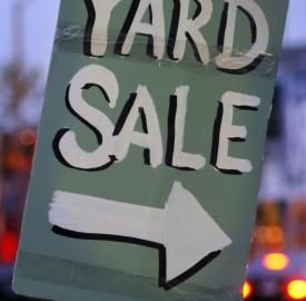 Hosting A Yard Sale Allows You To Make A Bit Of Money From