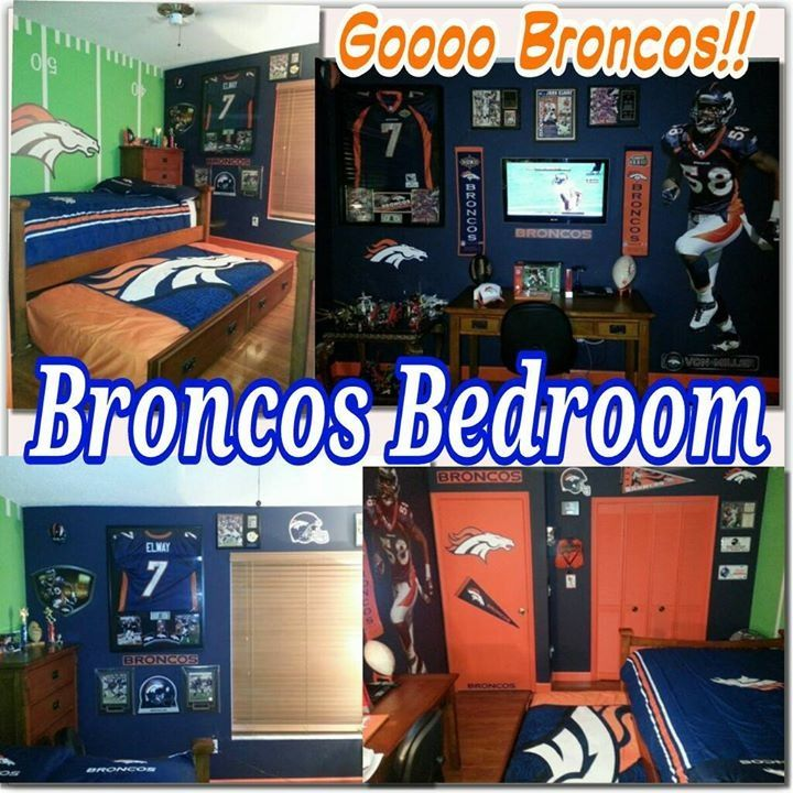 Pin by stacy hall on denver broncos pinterest for Denver broncos bedroom ideas