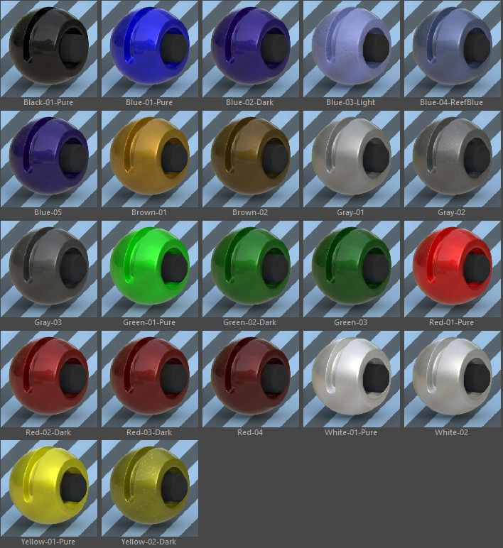 22 VRay Car Materials Pack-03-Paint for Cinema 4D #Car