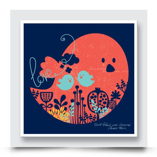 Contemporary TWEETY BIRDS playroom canvas wall art has been designed so that it can work beautifully in a unisex kids room. Its vibrant colours and abstract design will encourage your little one's imagination. Order your art print from http://www.madicleo.com/collections/wall-art-for-boys-rooms