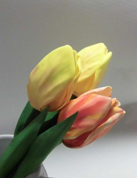 Тюльпаны из фома