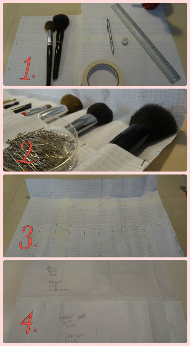 DIY Make-up Brush Roll