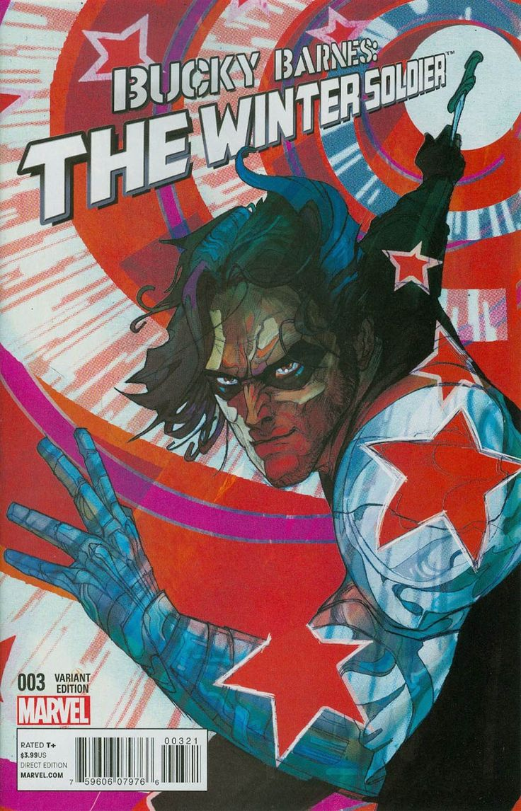 Bucky Barnes Winter Soldier #3 Cover B Incentive Christian Ward Variant Cover