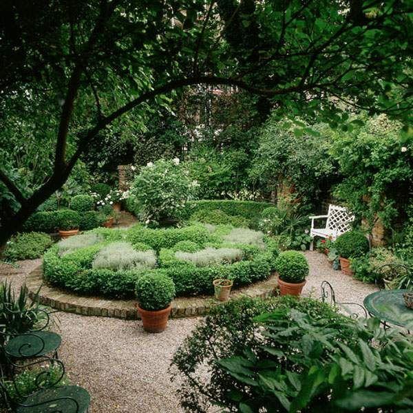 paysage de jardin buissons tailles