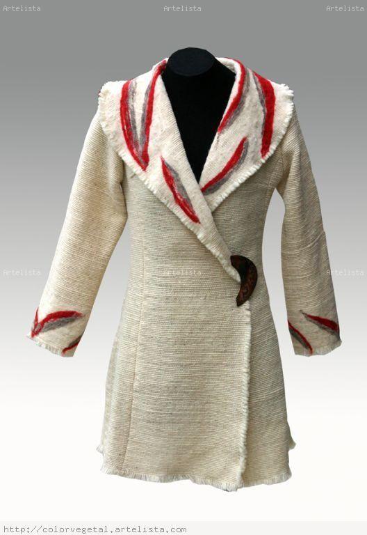 abrigos en telar mapuche