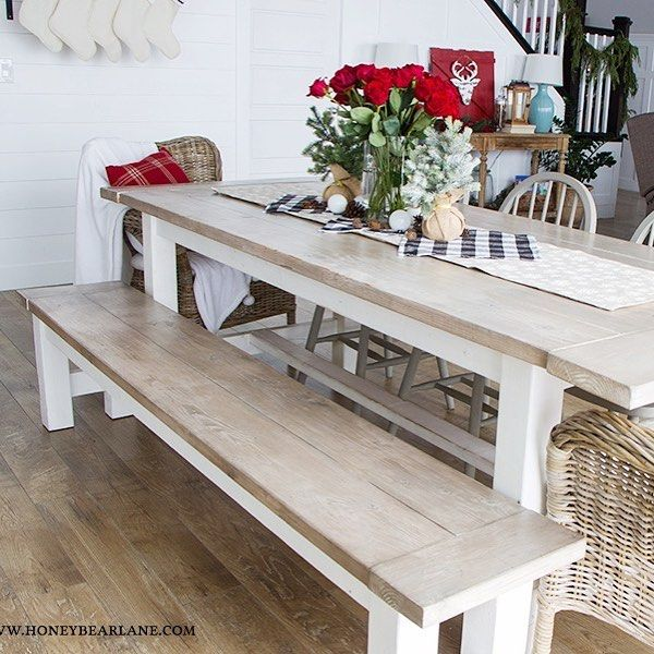 How to get a weathed wood finish. Farmhouse table which I built myself is one ofhellip