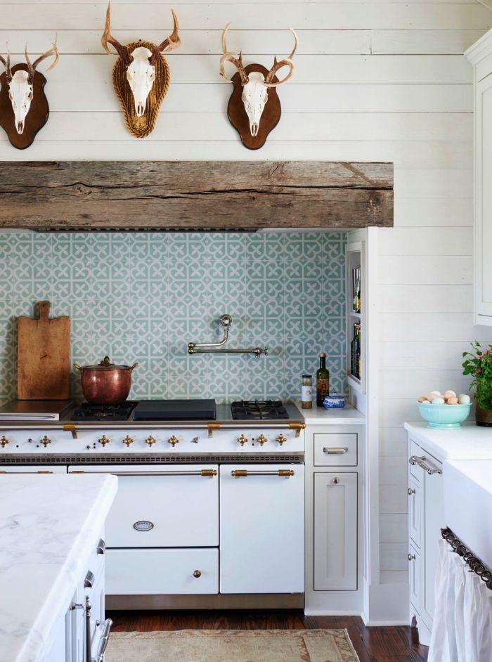 ▷ 95 idées pour crédence en carreaux de ciment | Cuisine | Kitchen ...