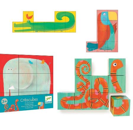 Djeco Creacubes cube puzzle