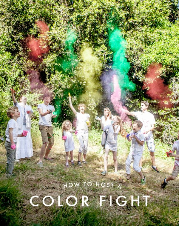 How to Host a Color Fight   Oh Happy Day (Thanks @QuakerOats!)