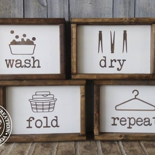 Look at these cuties we made for our new laundry room makeover! Look for our big reveal on our new blog coming soon! #laundryroommakeover #maki gyourhouseyourhome