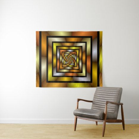 Luminous Tunnel Colorful Graphic Fractal Pattern Tapestry Check out this designer tapestry. You won't find one like this in the store. #tapestry #tapestries #tapestry #tapestrybedroomideas #wallhangings #walltapestry