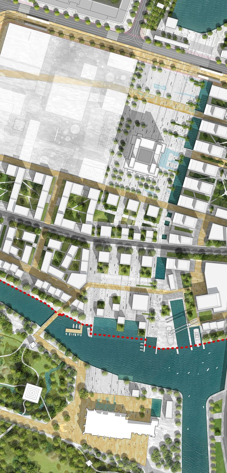 """Project team: OFF-THE-GRID STUDIO, DEVILLERS ET ASSOCIES, WALL. 2nd prize project winner International competition entry """"Heart of the city"""""""