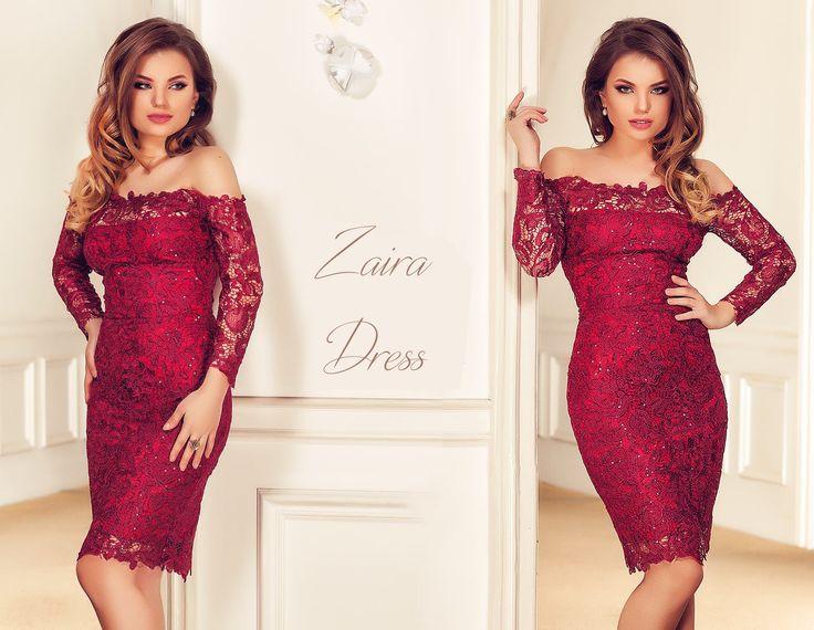 Evening lace dress with sequins embroidery in a gorgeous burgundy shade: https://missgrey.org/en/dresses/lace-evening-dress-in-burgundy-shades-with-sequins-zaira/456?utm_campaign=decembrie&utm_medium=rochie_zaira_bordo&utm_source=pinterest_produs