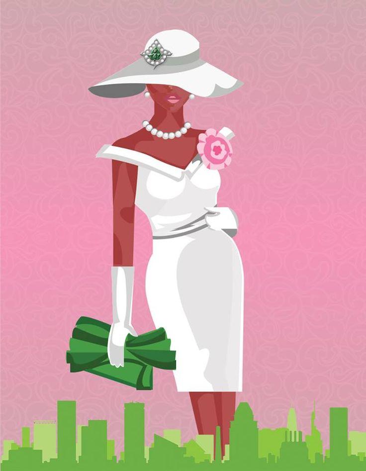Lady of Alpha Kappa Alpha Sorority, Inc, chic in white!