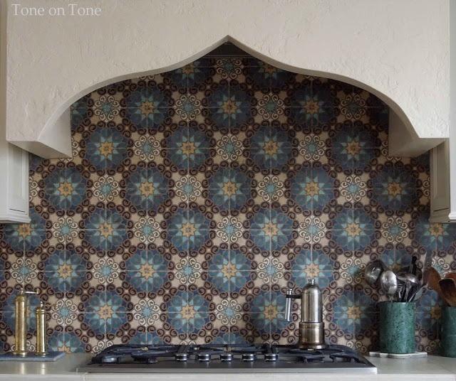 Stucco Hood With Moroccan Tile Backsplash Tone On Tone