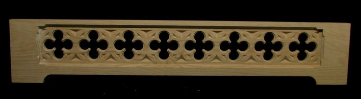 A gothic themed panel panel for skirting and range hood applications.   The Panel features an array or classically styled gothic quatrefoils that are pierced through.  These panels are available...