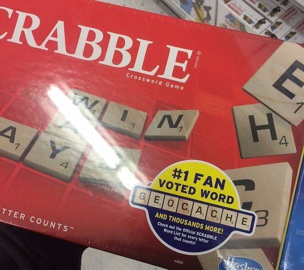 Scrabble - now with geocache!