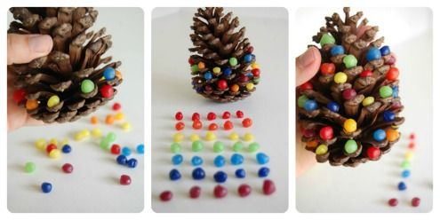 easy christmas crafts for kids to make I think that instead of beeswax, you could just use skittles!!!