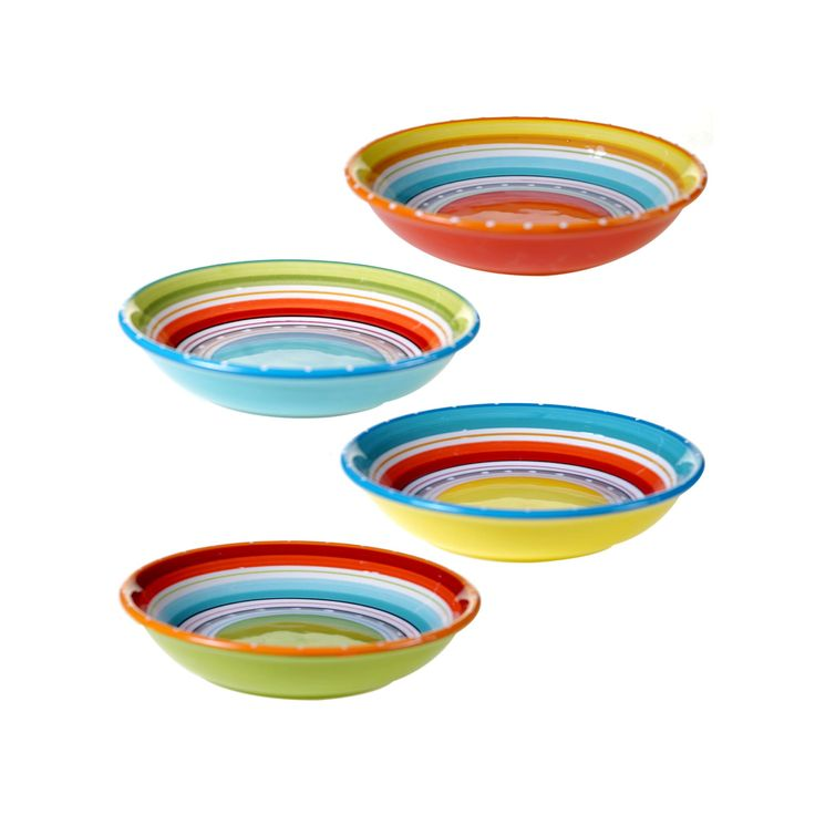 Certified International Mariachi 4-pc. Pasta Bowl Set, Multicolor