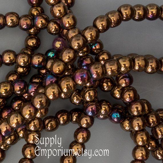 3mm Jet Bronze Vega Czech Druk Beads, 100 Beads, Jet Bronze Vega 3mm Czech Smooth Round Beads, 3358, Jet Bronze Vega 3mm Druk Beads