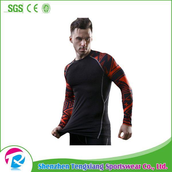 Wholesale Custom Men's Long Sleeve Polyester Bjj Rashguard