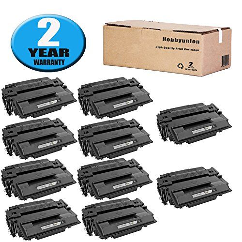 CE255A 55A Toner Cartridge 10 Pack by Hobbyunion Replacement for HP LaserJet P3015 P3015DN P3015D P3015N P3015X P3010 P3011 P3016 HP LaserJet Pro MFP M521DN M521DW M525DN M525F M525C  Black  -- You can find out more details at the link of the image.Note:It is affiliate link to Amazon.