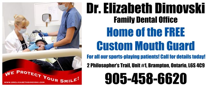 FREE Mouth Guards for all of our patients! Brampton Dentist