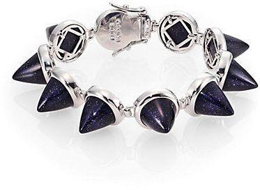 Eddie Borgo Blue Sandstone Cone Bracelet on shopstyle.com