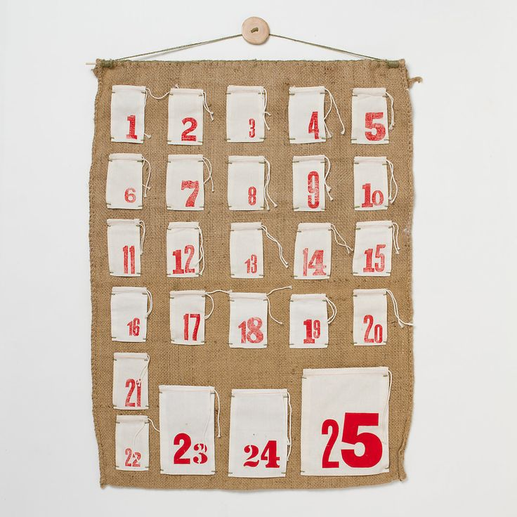 Grain Sack Advent Calendar in Holiday Holiday Décor Decorations at Terrain