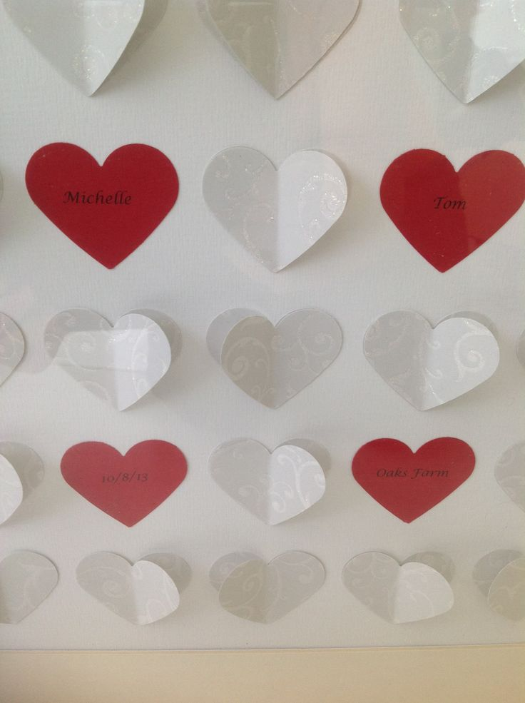 Paper Art.  A great gift for a happy couple to remember their special day.