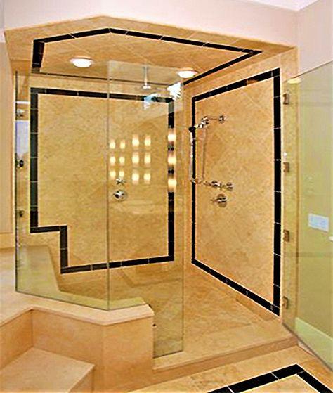 Seattle Custom Travertine And Onyx Master Bath Shower, The