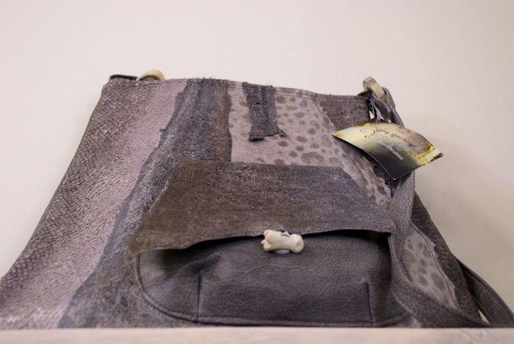 Unique bag made of horsehair and skin from fish and reindeer.  It is made of designer Ágústa M. Arnardóttir.  Read the reportage about her and the philosophy behind her clothes at www.ulrikanilsson.se  #Arfleifð #ÁgústaMArnardóttir #heritage #iceland #dresses #icelandicfashion