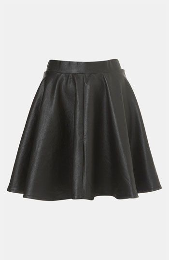 Black Leather Skater Skirt by Topshop. Buy for $76 from Nordstrom