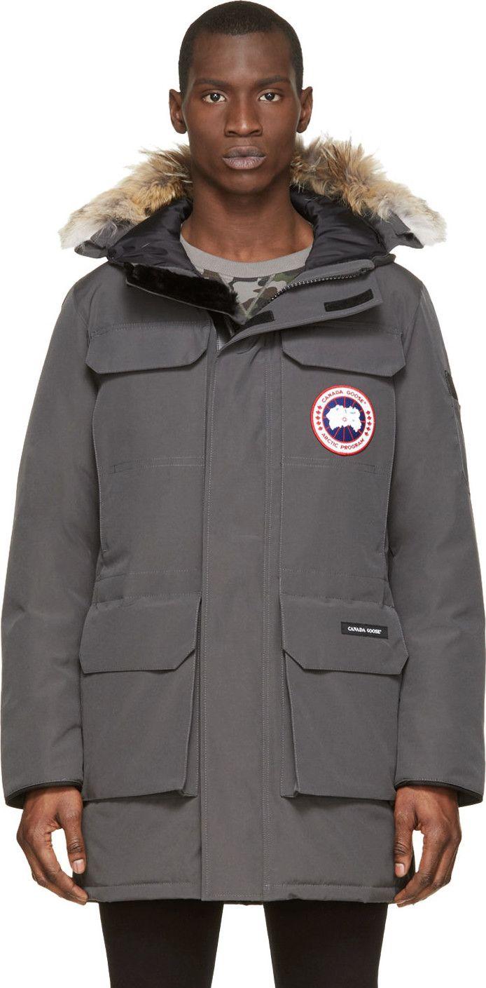Canada Goose - Grey Down & Fur Citadel Parka