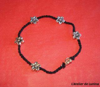 Bracelet brésilien et fleurs - Flower bracelet