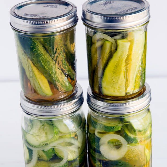 Bread And Butter Pickles Recipe Yummly Recipe Refrigerator Pickles Bread Butter Pickles Pickle Butter