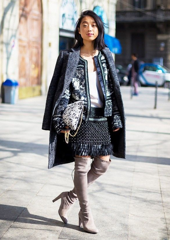 Embellished jacket + skirt