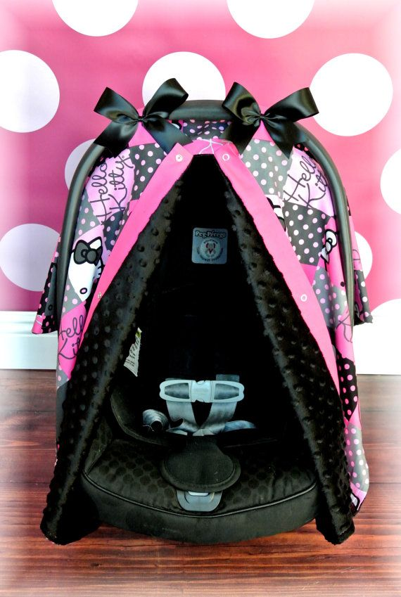 hello kitty minky carseat canopy car seat cover by jaydenandolivia baby gift ideas clothes. Black Bedroom Furniture Sets. Home Design Ideas